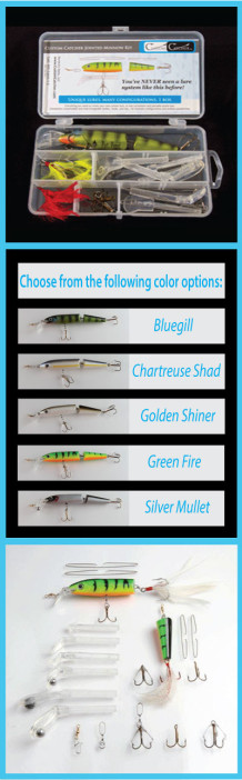 Custom Catcher Jointed Minnow Single Body Kit – Customizable Lures