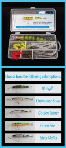 Custom Catcher Jointed Minnow Single Body Kit – Customizable Lures