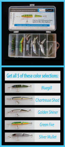 Custom Catcher Jointed Minnow Master Angler Kit